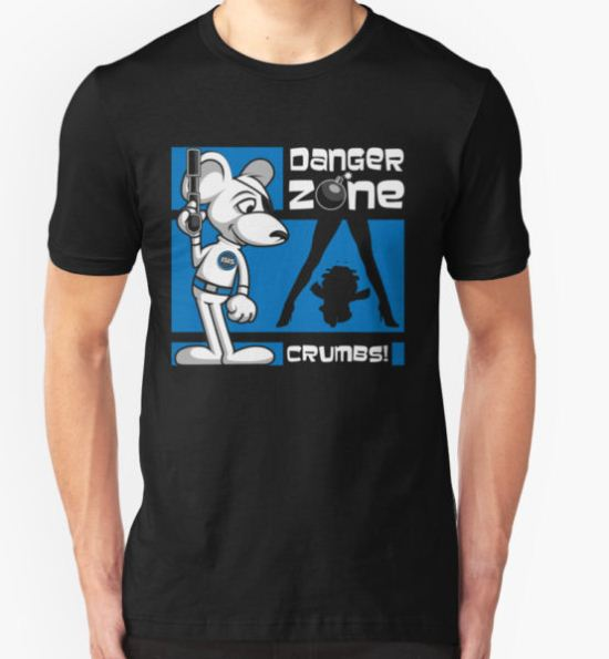 Danger Zone - blue T-Shirt by SwanStarDesigns T-Shirt