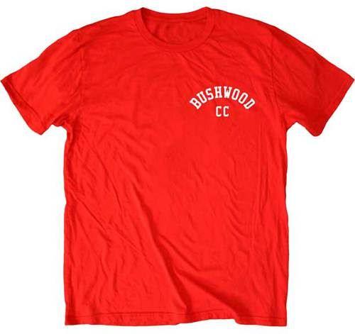 Caddyshack Bushwood CC Logo on Left Chest Red Mens T-shirt