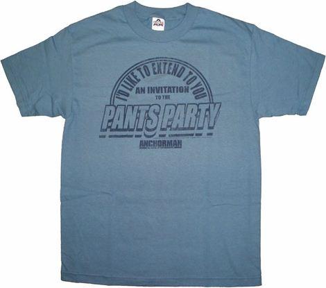 Anchorman Pants Party T Shirt