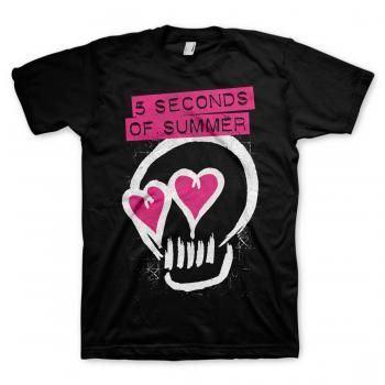 5 Seconds of Summer: Pink Eyes Skull T-Shirt