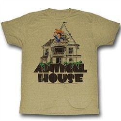 Animal House Shirt Flag Flyer Adult Sand Heather Tee T-Shirt