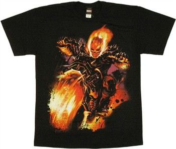 Marvel Comics Ghost Rider Fire Bike T-Shirt