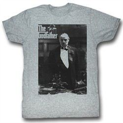 The Godfather Shirt The Don Again Adult Heather Grey Tee T-Shirt