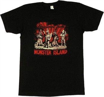 Godzilla Greetings from Monster Island T-Shirt Sheer