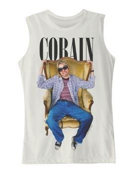 Nirvana Kurt Cobain Sitting Photo Women's Tank T-Shirt