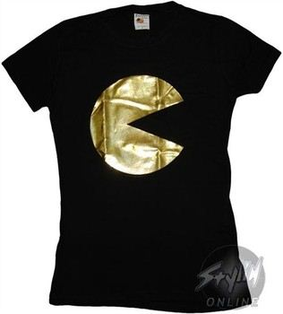 Pac Man Foil Gold Baby Doll Tee