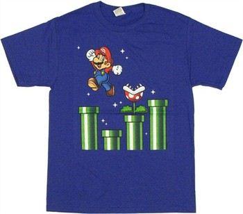 Nintendo Super Mario Over Tubes T-Shirt