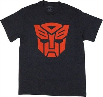 Transformers Autobots Red Logo on Navy T-Shirt