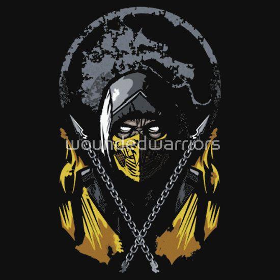 Mortal Kombat - Scorpion by woundedwarriors T-Shirt