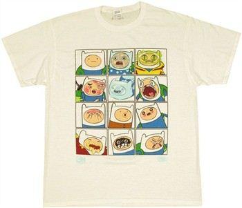 Adventure Time Finn the Human Faces T-Shirt