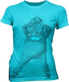Alice in Wonderland Tweedle Dee Dum Turquoise T-shirt