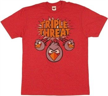Angry Birds Triple Threat Split Bird T-Shirt Sheer