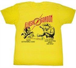 Flash Gordon T-Shirt Movie Monopoly Pawnage Adult Yellow Tee Shirt