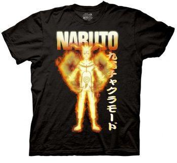 Naruto Anime Shippuden Bijuu Mode Adult Black T-shirt