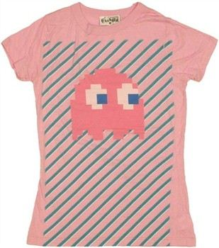 Pac Man Pinky Ghost Baby Doll Tee