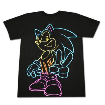 Sonic The Hedgehog Neon Lines T-Shirt