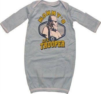Star Wars Mommy's Li'l Trooper Long Sleeve Infant Layette Gown