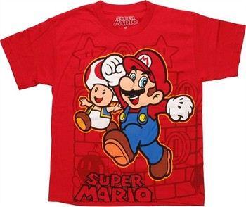 Nintendo Super Mario Character Wrap Around Youth T-Shirt
