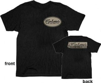 True Blood Merlottes Bar and Grill Mens Black T-shirt