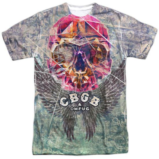 CBGB Shirt Graffiti Skull Sublimation Shirt