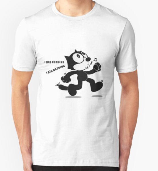 Cat Feliz happy T-Shirt by lechu T-Shirt