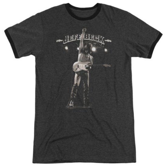 Jeff Beck Guitar God Charcoal Ringer Shirt
