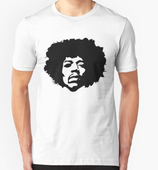 Jimi Hendrix Outline T-Shirt by David Bash T-Shirt