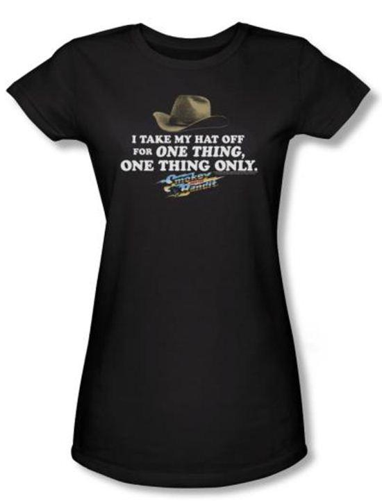 Smokey And The Bandit Juniors T-shirt Movie Hat Black Tee Shirt