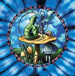 Alice In Wonderland Shirt Cartoon Mystical Tie Dye T-shirt
