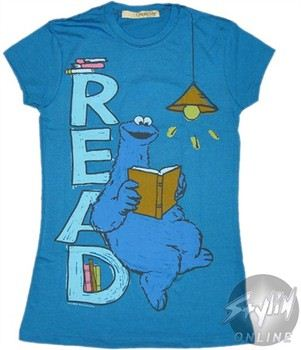 Sesame Street Cookie Monster Read Baby Doll Tee by MIGHTY FINE