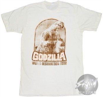 Godzilla World Destruction Tour T-Shirt Sheer
