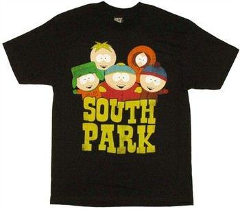 South Park Group Kyle Stan Cartman Kenny Butters T-Shirt
