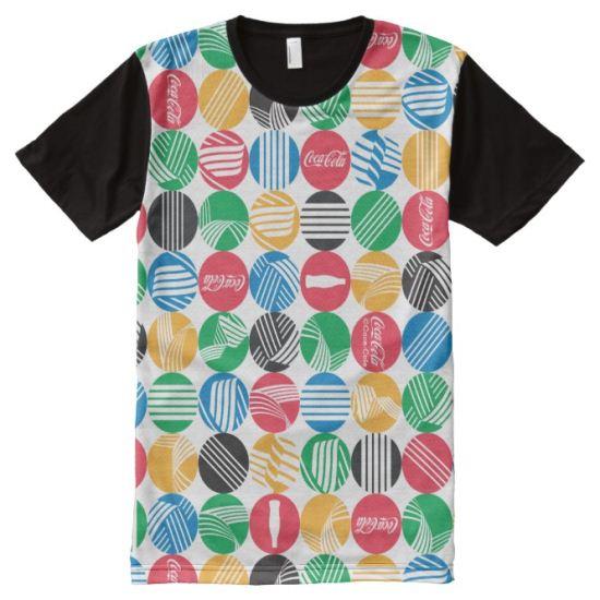 Coca-Cola Rainbow Disc Grid All-Over Print T-shirt