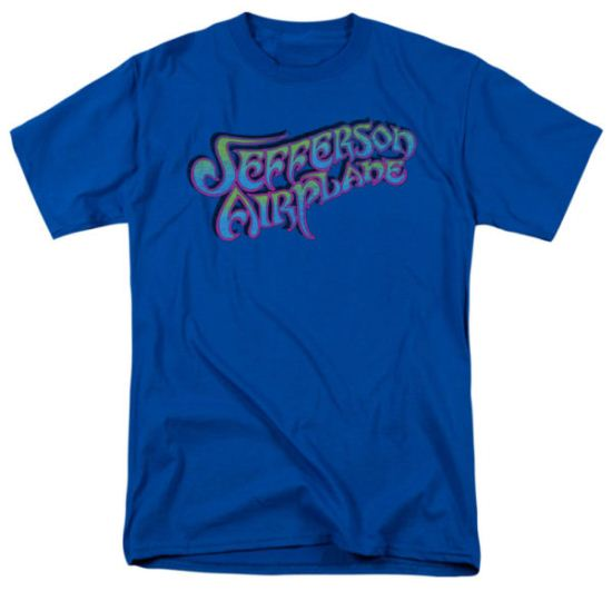 Jefferson Airplane Shirt Gradient Logo Adult Royal Tee T-Shirt