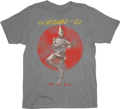 The Wizard of Oz The Tin Man Silver Gray Mens T-shirt