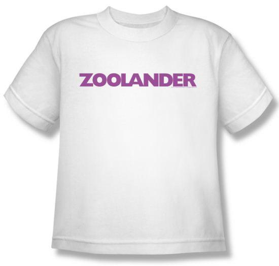 Zoolander Shirt Kids Logo White Youth Tee T-Shirt