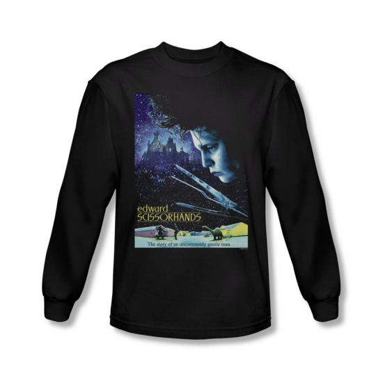 Edward Scissorhands Shirt Poster Long Sleeve Black Tee T-Shirt