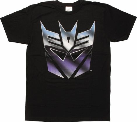 Transformers Classic Metal Decepticon Logo T-Shirt