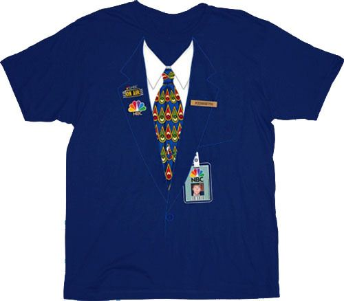 30 Rock NBC Kenneth Parcell Page Uniform Navy T-shirt