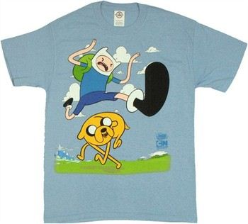 Adventure Time Finn Hurdle Jake T-Shirt
