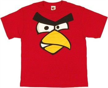 Angry Birds Red Bird Face Youth T-Shirt