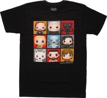 Game of Thrones Funko Pop! Toy Grid T-Shirt Sheer