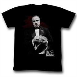 The Godfather Shirt Contemplation Adult Black Tee T-Shirt
