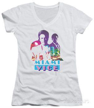 Juniors: Miami Vice - Crockett And Tubbs V-Neck