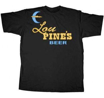 True Blood Lou Pine's Beer Black Adult T-shirt