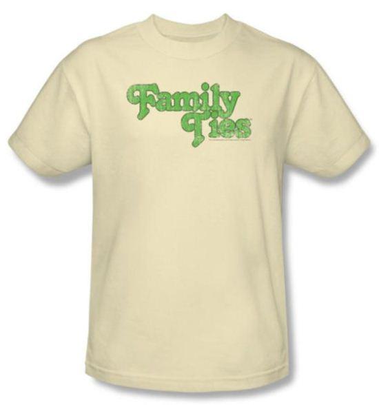 Family Ties Shirt Logo Cream T-Shirt