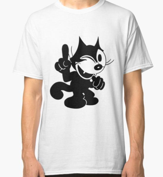 Felix the Cat Winking at.. Classic T-Shirt by Czerra T-Shirt