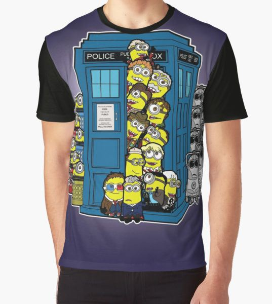 Behind You Doc Minion Graphic T-Shirt by ultimatewarrior T-Shirt