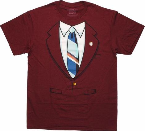 Anchorman Ron Burgundy Suit T Shirt