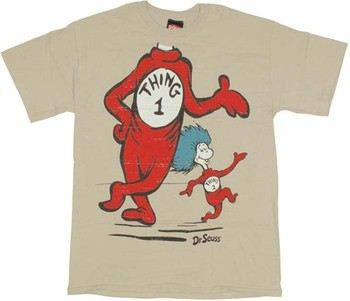 Dr. Seuss Thing One Body with Thing Two T-Shirt